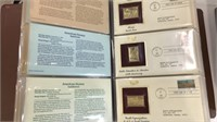 Golden Replicas of US Stamps, 2 Books