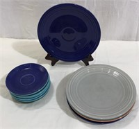 Fiesta Ware Plates and Saucers