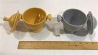2 Fiesta Ware Sugar Bowls