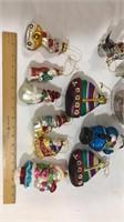 Ship & Snowman Christmas Ornaments