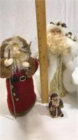 3 Christmas Santa Figures, 1 Santa Candle