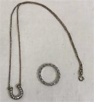 Horseshoe Necklace & Ring