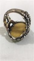 Ring; 925 CL, Size 9, Mother of Pearl