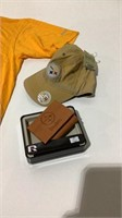 Pittsburg Steelers Shirt, Hat and Wallet-