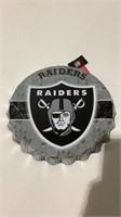 Oakland Raiders Bottle Cap Sign-