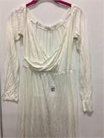 WOMENS LONG WHITE DRESS SIZE XL