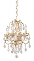 VAXCEL NEWCASTLE CHANDELIER CLEAR CRYSTAL