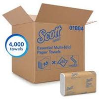 16 SETS OF SCOTT MULTIFOLD PAPER TOWELS