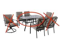 HAMPTON BAY VESTRI DINING TABLE ONLIY