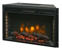 """26"""" ELECTRIC FIREBOX INSERT - WITH FAN HEATER AND"""