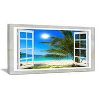 DESIGN ART WINDOW OPEN  SEASHORE CANVAS