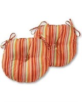 """BISTRO CHAIR CUSHION 15"""" SET OF TWO WATERMELON"""