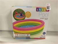 INTEX INFLATABLE POOL, 58in X 13in
