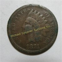 LOT 25 AMERICAN INDIAN HEAD PENNIES 1874-1907