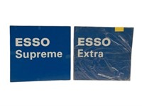 GROUPING OF 10 ESSO GASOLINE D/S PLASTIC SIGNS