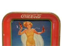 1937 DRINK COCA-COLA  METAL SERVING TRAY