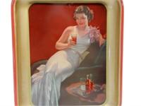 1937 BUVEZ COCA-COLA  METAL.SERVING TRAY (FR)