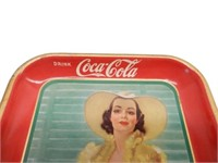 1938 DRINK COCA-COLA  TIN  SERVING TRAY