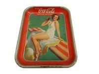 1939 DRINK COCA-COLA  GIRLTIN SERVING TRAY