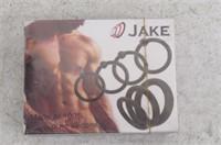 Jake Set of 7 Silicone Male C-Rings, Black