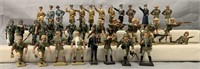 40 Plus Lineol Solid Cast Soldiers