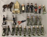 25pc Vintage Britains Soldier Lot