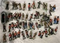 60+pc Britains Figure Lot, Most Vintage