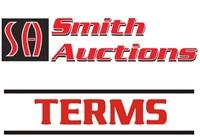 ONLINE AUCTION TERMS LOTS 9 & LOT 11