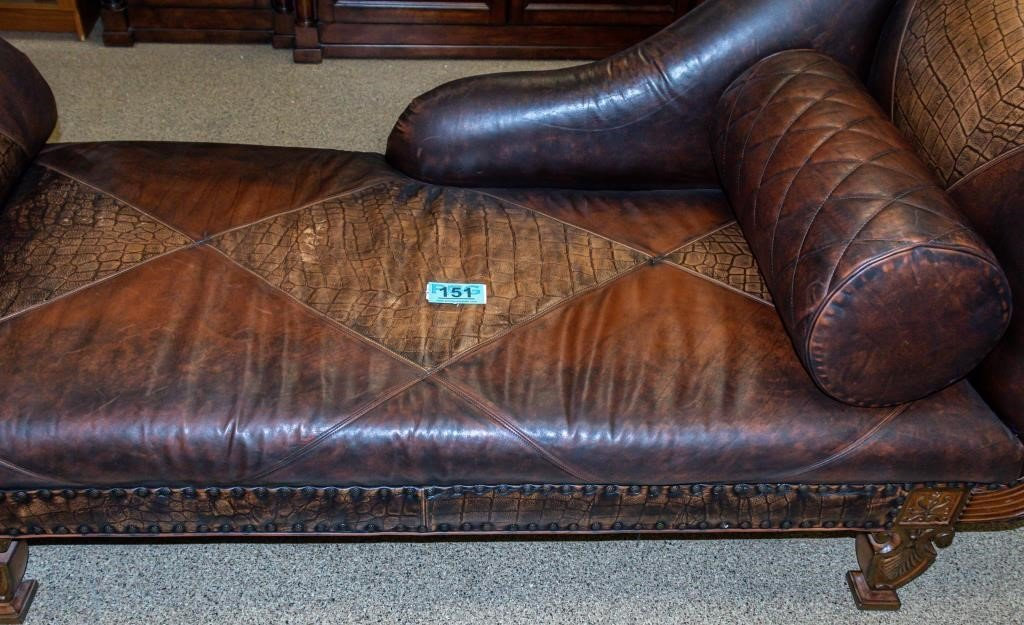 Leather Settee Fainting Couch By Councill Azfirearms Com Pot Of Gold Estate Liquidations