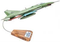 SAAB 35 Draken Model Jet on Wood Stand