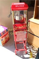 """Popcorn Popper on Stand  approx 46"""" Tall"""