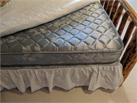 Queen Log Bed with Mattress, 2) Wood Night