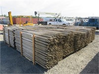(10) Bundles of 8' Assorted Tree Stakes
