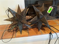 Punched Metal Hanging Lights