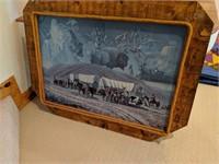 Barn Wood Framed Western Art Work