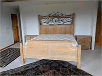 Lexington Blonde White Washed Wood Bedroom Set