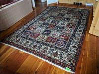 """Persian 85"""" x 131"""" Wool Iranian Area Rug"""