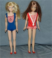 Mattel Doll Lot, Barbie 870, Ken, Skipper, Francie