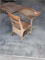 Coffee Table and Vintage School Desk