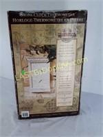 Stone Clock-Thermometer