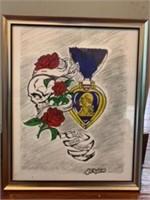Purple Heart Print