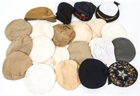 WWII US NAVY - ARMY DRESS & SERVICE HAT LOT