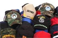 ARMY - NAVY SURPLUS VETERAN BALL CAP MIXED LOT