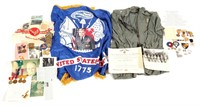 WWII US SOLDIER ARCHIVE GROUPING MIXED LOT OF 5