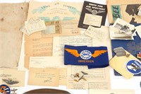 WWII US SOLDIER ARCHIVE GROUPING MIXED LOT OF 10