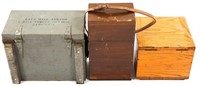 WWII WORLD AIRCRAFT INSTRUMENT CARRY CASES LOT