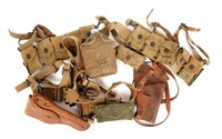 WWII US ARMY COMBAT BELT, HOLSTER & POUCH LOT