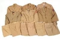 WWII US ARMY OFFICER DRESS KHAKI UNIFORM LOT