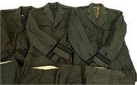 WWII US NAVY OFFICER DRESS GREEN UNIFORM LOT