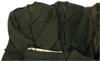 WWII US NAVY OFFICERS DRESS GREEN UNIFORM LOT